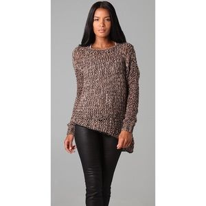 HELMUT LANG Marled Open Knit Pullover Sweater
